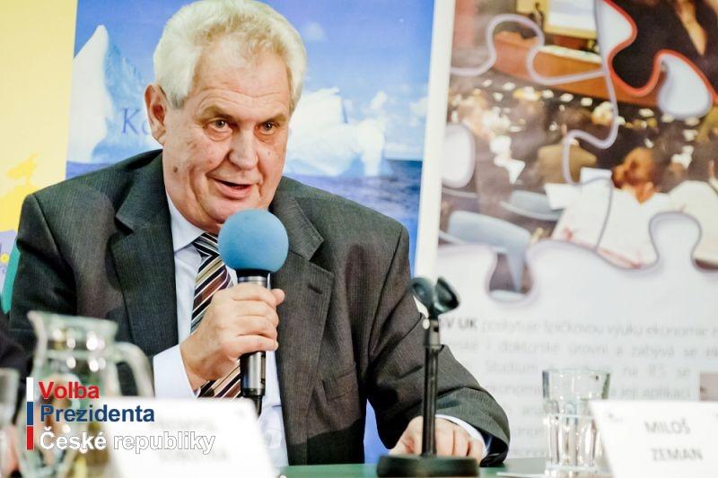 První veřejný projev nově zvoleného prezidenta ČR